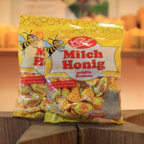 Milch Honig Bonbons